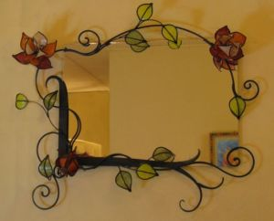 Yes, these are stained glass flowers. And they only have a decorative purpose in this case.