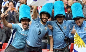 Even though you wouldn't want to wear a hat like this in Uruguay. But these guys don't seem to care.