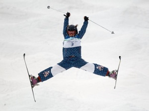 Sure freestyle ski aerials may look awesome to watch. But in a re-imagined set of Captain America pajamas? Not so much.