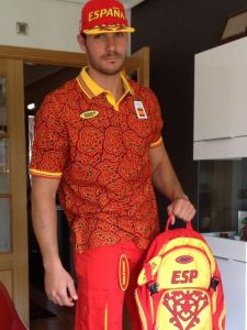 Didn't know Spain would model their uniforms after the McDonald's drive-thru worker in Saturday Night Fever. And no, I don't want fries with that.