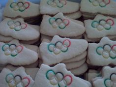 Yes, these are Olympic shoe cookies. And they seem to be professionally made. But they're great nonetheless.