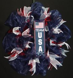 "Notice that I posted one saying ""Team USA"" instead of a conventional USA wreath. That's because Team USA is an Olympic team while conventional USA decor can also be used for the 4th of July."