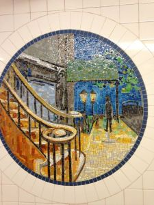 Surely it's a street scene mosaic. But it also seems like a painting to me, too. Wonder if it's based off anything.