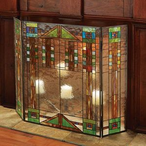 Geometric designs are also popular for stained glass windows. They're also not as difficult to produce either.