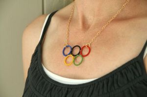 Well, this seems quite simple to make. Well, once you have the rings of 5 different colors, no less.