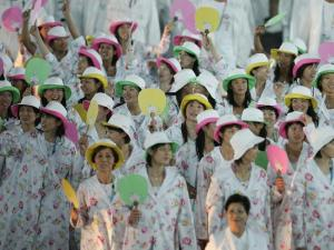 For God's sake, Japan, this is an Olympic opening ceremony, not an Easter parade! Seriously, get it right.