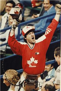 So this guy has to get a megaphone and a siren because he's a Canadian patriot, dammit. Nevertheless, this picture is from the 1980s.