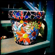 After all, it's a pot decorated with flowers. Hopefully someone plants flowers in it.