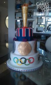 This was made for the London 2012 Olympics. But you have to like the medals and torch at the top.