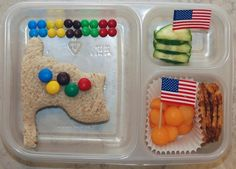 This one has an Olympic sandwich flag and supports Team USA. Love the M&Ms.