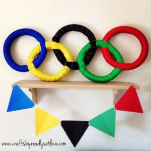 I guess this is for a party. Like how they had these rings interlock like the rings you see on the Olympic flag.