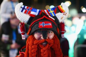 His helmet is even crocheted even at the horns and beard. So he could really get the Viking look.
