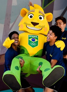 While the jaguar does make sense to represent Team Brazil, his Cheshire Cat smile is particularly disturbing. Will surely keep the kids at Rio up at night in terror. As they don't have enough to worry about already.