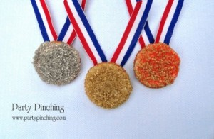 Sprinkles available in gold, silver, and bronze. Medals aren't edible though.