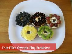 Well, these seem like a healthy way to start one's day. Of course, each one has a different color fruit.