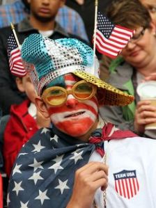 If Elton John was American, he'd dress like this as part of his stage routine. Well, if it was the 1970s, anyway.