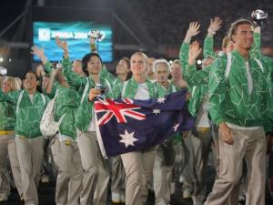 Green windbreakers with stars on them? Are you nuts, Australia? I wouldn't want to be caught dead in one of these.