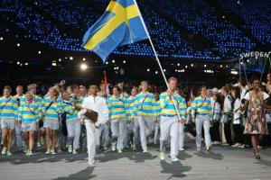 The Blues Clues Brigade has arrived at the stadium. Seriously, Sweden, stop dressing like you're on a children's show.