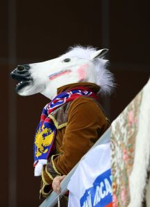 Okay, it's a Russian in a horse head. But you have to appreciate the Russians' sense of humor.