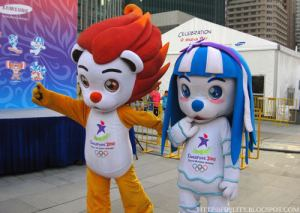 I don't know about you. But these mascots will give any child athlete nightmares. Must be part of Singapore's strategy. And you thought Americans were crazy when it came to youth sports.