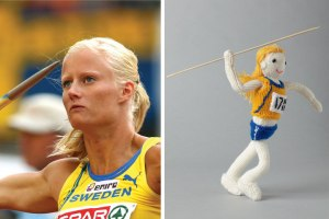 Carolina Kluft was a Swedish Athlete who won the heptathlon in the 2004 Olympics. She's the only athlete to win 3 world titles in the sport.
