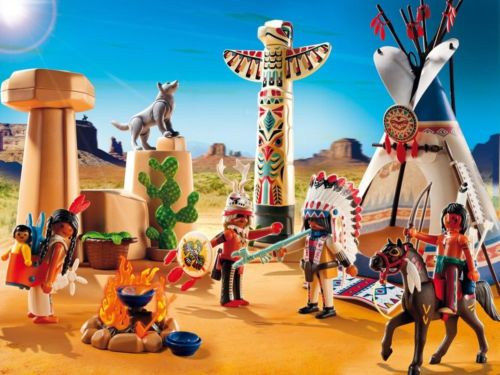 playmobil-native-american-camp-with-totem-pole-b253aa2d1e61f0e224ecb936cab349e2