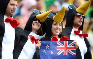 What the hell do penguins have to do with New Zealand? Kiwis, I understand. But penguins, I give up.