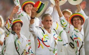 It's kind of ironic that a country known for its hostility toward LGBT people would authorize uniforms that seem to come straight out of a gay pride parade. Doesn't it seem that way.