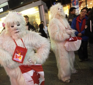 You'd think they'd be for Team Nepal since they're legendary Himalayan monsters. But no, they have Canadian flags.