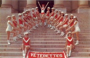 "Only in Oklahoma City where you can find a local VFW having its own majorette squad. Bad Postcards adds, ""Name changed after its first year as the Veterans of Foreign Warsettes."""