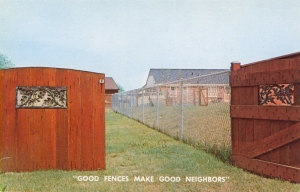 However, when it comes to neighborhood fencing, I would prefer something more inviting. Like a wooden picket fence. Because metal ones are more suitable for public places.