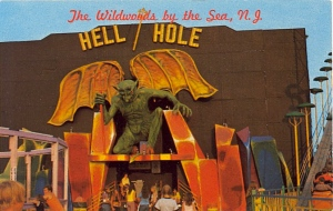 Of course, some people might think hellhole applies to New Jersey in general. But this one has demonic statue to greet you.