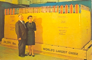 Now that is a hell of a lot of cheese. You have to think of the cows whose milk went to its production.