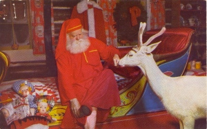Didn't know Santa even had a white reindeer. Why didn't they even tell us about this?