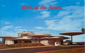 That's a bank? I kind of liken it to if Emperor Palpatine's vacation home was designed by Frank Lloyd Wright.
