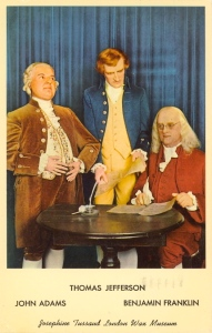 For some reason Benjamin Franklin wasn't feeling so well today. But knowing that such task was so important for the country, he showed up to Independence Hall anyway.
