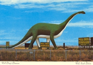 This is from South Dakota by the way. I know it's not as cool as you'd see in Jurassic Park. Still, some states seem to have a thing for large animal statues.
