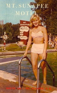 Yeah, there's a place called Sunapee. I know it stirs giggles. Also, note the bikini clad woman who just got out of a pool.