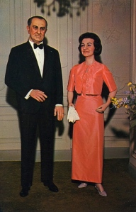 "Tumblr member from Bad Postcards: ""While the female figure bears some resemblance to Lady Bird, the man hardly looks like LBJ at all. He looks almost more..."" Uh, like a psychokiller."