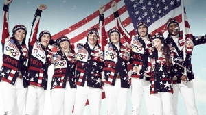 Star spangled Olympic outfits designed by Ralph Lauren? Or ugly American Christmas sweaters? You decide.