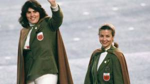 It's basically what you'd expect the Slytherin uniforms to look like had Harry Potter took place in the 1960s. Yeah, that bad.