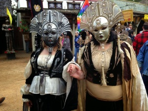 Yes, they kind of look creepy. But apparently, these people think the masks are cool. So they go with them.
