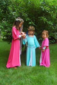 Because Renaissance dresses can be very expensive if ornate enough. Yet, these little girls are so cute.