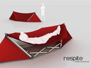 This is a tent that turns into a hammock whenever need be. It just needs to be flipped over from time to time.