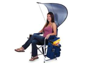 Now I would certainly want this for the beach. Also comes with bag for reading material like magazines.