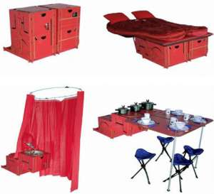 These can be made into different things like containers, a shower, a bed, and a table. So your camping needs can be all accounted for.
