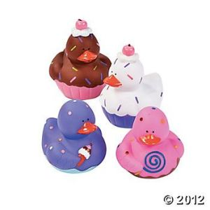 Full disclosure, you can't really eat these cupcake ducks. But they do look very adorable. Like the purple one.