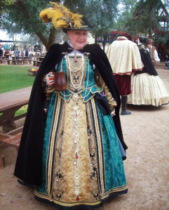 And I bet this woman's costume didn't come cheap either. Knowing how it's rich with ornate detail.