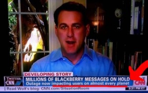 Now even the Klingons can't get their Blackberry messages now. Unfortunately, the real world isn't Star Trek, CNN.