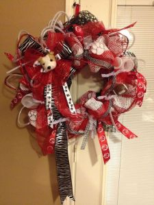 Yes, it may seem quite fancy from what you'd expect from a college sports wreath. But fans are bound to love it.